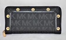 $188 Michael Kors Delancy Continental Classic Wallet Purse Organizer Zip Around