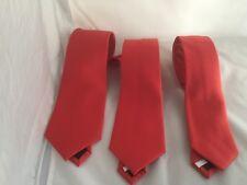 "Mens Polyester Coral Orange Ties>Classic>3.3""=8cm-Slim=3"" =7.5cm-Skinny=2.5""=6cm"
