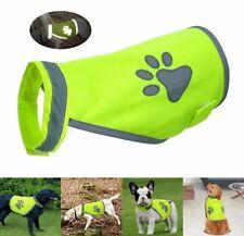 REFLECTIVE HIGH VISIBILITY DOG Hi-Vis NIGHT SAFETY VEST/ COAT - 4 sizes