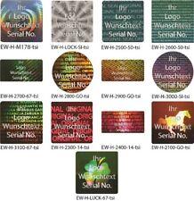 Hologramm-Aufkleber, Siegel Aufkleber, Hologram, silber-glänzend bedruckt von EW