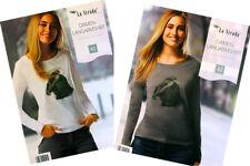 Langarmshirts La Strada Damen Langarmbluse mit Druckmotiv Pullover Longshirt Neu