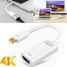 Thunderbolt Mini DisplayPort Mini DP to HDMI Adapter Converter Cable 4K Ultra HD
