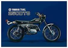 YAMAHA Poster DT3 250 prerunner of the DT250 Trail 1973 Superb Suitable to Frame