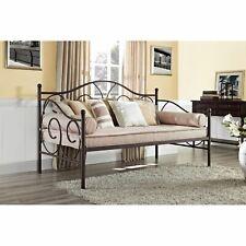 Bronze Metal Daybed Frame Twin Full Bed Kids Bedroom Furniture Guest Dorm Home