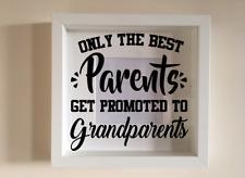 Cadre photo uniquement les meilleurs parents être promus à grandpaerents cadeau.
