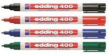 Edding 400 Permanent Marker Permanentmarker. 1mm fein Schwarz, Rot, Blau, Grün