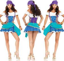 Costume travestimento pirata con capello festa vestito carnevale donna halloween