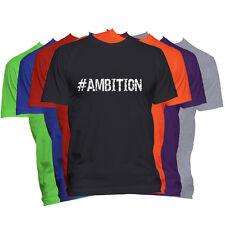 AMBITION Motivational T-Shirt Word Saying T Shirt Inspirational #Hashtag Tee