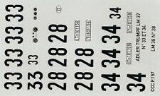 decals 1/43: Adler Trumpf Le Mans 1937/38