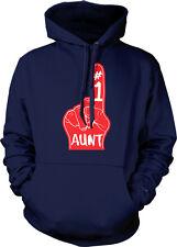 #1 Aunt Number One Red Foam Finger Best Greatest World She Is Hoodie Sweatshirt