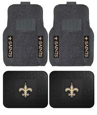 New Orleans Saints Deluxe Auto Floor Mats - Car, Truck, SUV