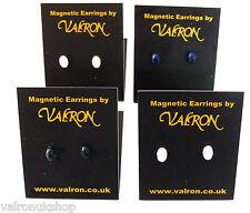 MINI OVAL EARRINGS MAGNETIC OR STUD BLACK, NAVY, PINK OR WHITE