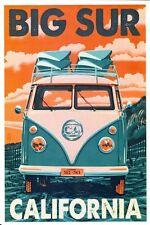 VINTAGE Volkswagon VW Camper Van Pubblicità Poster a3 stampa