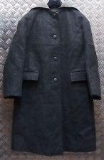 Authentique Vintage 1960` Dames S Militaire Laine Gris Duffle Coat Manteau Long