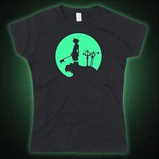 Kingdom Hearts Sora Moon inspired Glow in the dark Ladies Tshirt T-Shirt Tee Top