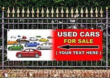 Outdoor PVC AUTO USATO vendita personalizzata text2 Banner GARAGE SIGN pubblicità gratuita OPERE D'ARTE