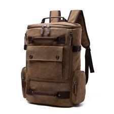 Large Canvas Backpack Briefcase Travel Bag School Bag Unisex Vintage Shoulderbag