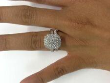 1.50 Carat Round Cut Diamond Engagement Bridal Wedding Ring 14K White Gold Over