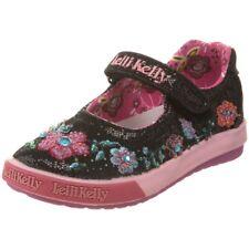 Lelli Kelly Pretty LK9533 Black Mary Janes Dolly Sparkle Hand Beaded Flowers NEW