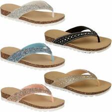 37afd39337ee66 New Ladies Womens Flip Flops beach summer toe post Sandals girls Glitter  Shoes