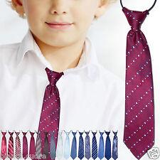 CRAVATTA BAMBINO cravattino rosso bordeaux ricamato 2/8 anni TANTI COLORI D0481