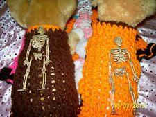 "Halloween dog apparel ""POSABLE SKELETON"" Sweater ESPRESSO S"