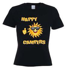 Happy Camper T-Shirt-Festival Camping Wohnwagen GLAMPING VW Zelt-Größe S bis XL