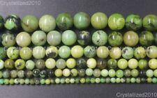 "Natural Australian Chrysoprase Gemstone Round Beads 4mm 6mm 8mm 10m 12mm 16"""