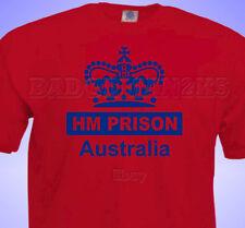 HM Prison Australia T-Shirt Cricket or Rugby or Football Joke MENS / unisex