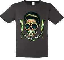 Camiseta gris sudaca rockabilly- & `50 stylemotiv Modelo sudaca Blades