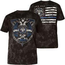 AFFLICTION T-Shirt CK Honor Protect Schwarz T-Shirts