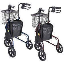 Lightweight Aluminum Rollator Adult Medical Aid Foldable Walker W/ Wheels Basket