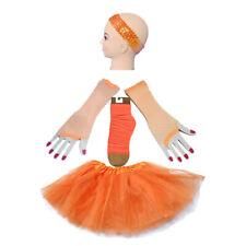 Orange TUTU 4 Set Headband SKIRT LEG WARMERS GLOVES 80'S hen party