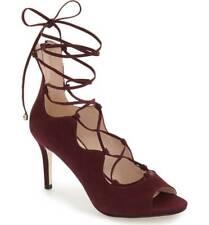 KLUB NICO Matilda Wine Blush open-toe sandal tie up slim stiletto heel Bootie