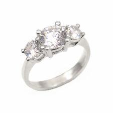 Engagement Ring Diamond Unique Trilogy 9ct Gold 2.20ct