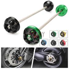 Motor Front Axle Fork Crash Sliders Wheel Protector For Suzuki GSX-R1000 05-17