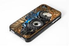 WickedArtz Cartoon New Holland Tractor Mud Splash iPhone 4/5/6/7 Case/Cover