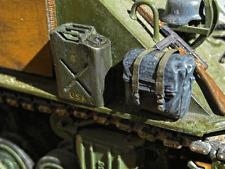 Benzin Blech Kanister USA US ARMY WWII Diorama Panzer LKW Ladegut Zubehör 1/16