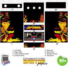 Defender COMPLET/DEMI-Jeux Arcade Artwork Stickers Graphiques/Laminé Toutes Tailles