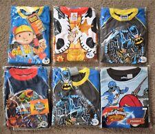100% Baumwolle KINDER Pyjama Bob Bauherr Batman Woody Skylanders Power Rangers