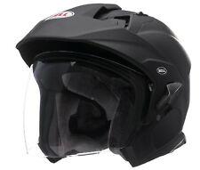 Bell Matte Black Adult Mag-9 Solid Open Face Motorcycle Helmet