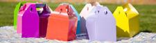 Uni coloré boites FÊTE 14 couleurs Anniversaire déjeuné Sacs Butins Marriage