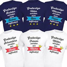 Fun T-Shirt für die werdende Oma Opa Papa Mama Shirts Geburtstag Geschenke