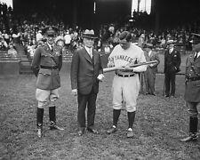Babe Ruth autographs bat for Secretary of War James Good 1929 Photo Print
