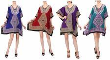Miss Lavish Kaftan Kimono Tunic Dress Evening Top Free Size 12 14 16 18 20 22