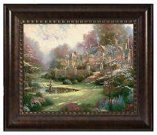 Thomas Kinkade Gardens Beyond Spring Gate 16 x 20 Brushstroke Vignette
