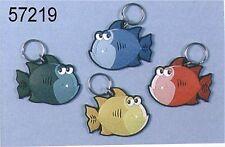 1 X COMICAL LOOKING NOVELTY  FISH SHAPED RUBBER KEYRING   57219  8B