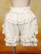 Ecru lace Lolita fashion style Sweet White Dress pumpkin high waist Bloomers