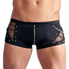 Herren Zip Boxer Pants S M L XL 2XL Shorts schwarz Netz Schnürung Svenjoyment