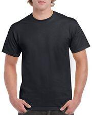 Black GILDAN 5000L Men's Plain 100% Cotton Blank T-shirt Tee sizes S - 2XL